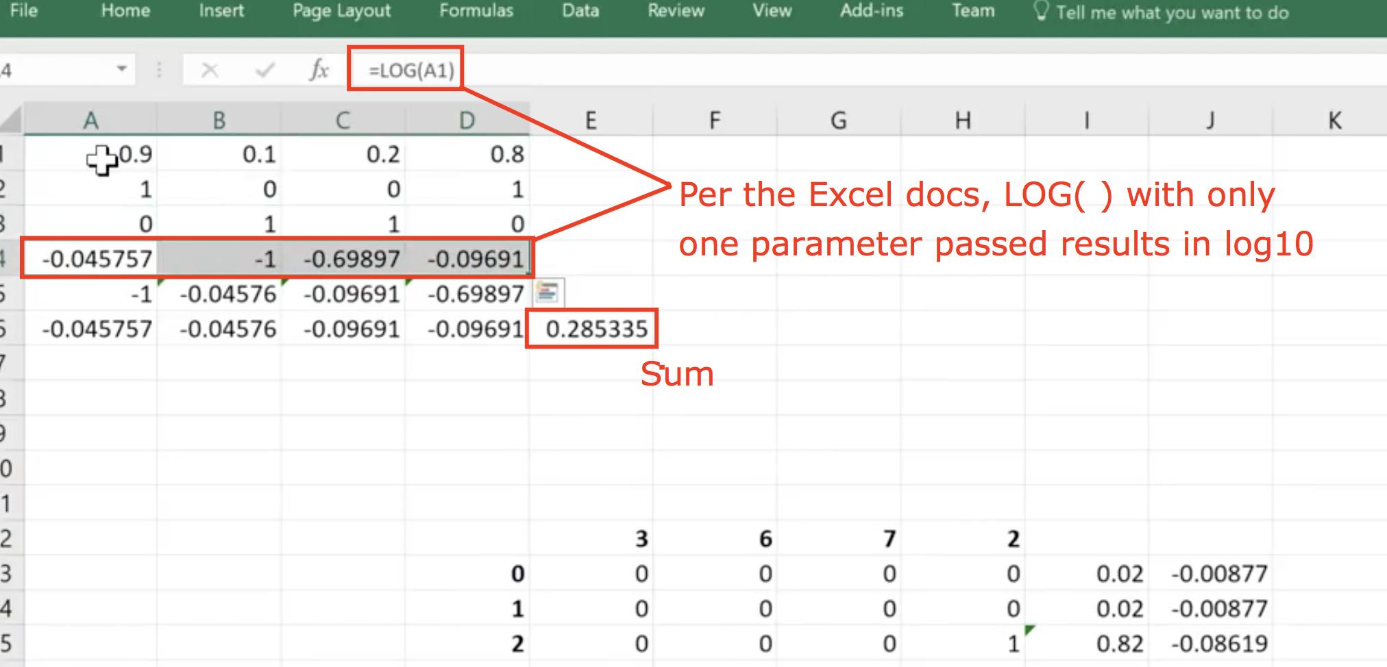 Cross Entropy using natural log vs log20 and sum vs mean   Part 20 ...