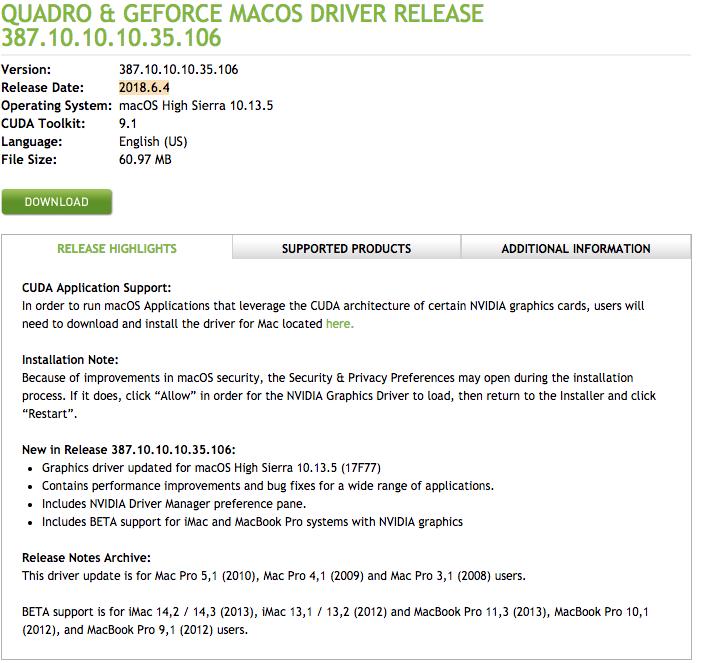 Install cuda 9 mac | Mac OSX 10 13, CUDA 9 0, got nvcc error