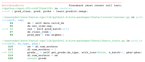 Fastai V1 - Predicting on Single New Image - Conversion to