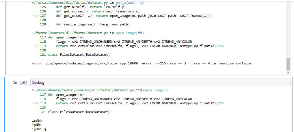 OpenCV Error: Assertion failed (scn == 3    scn == 4) in cvtColor