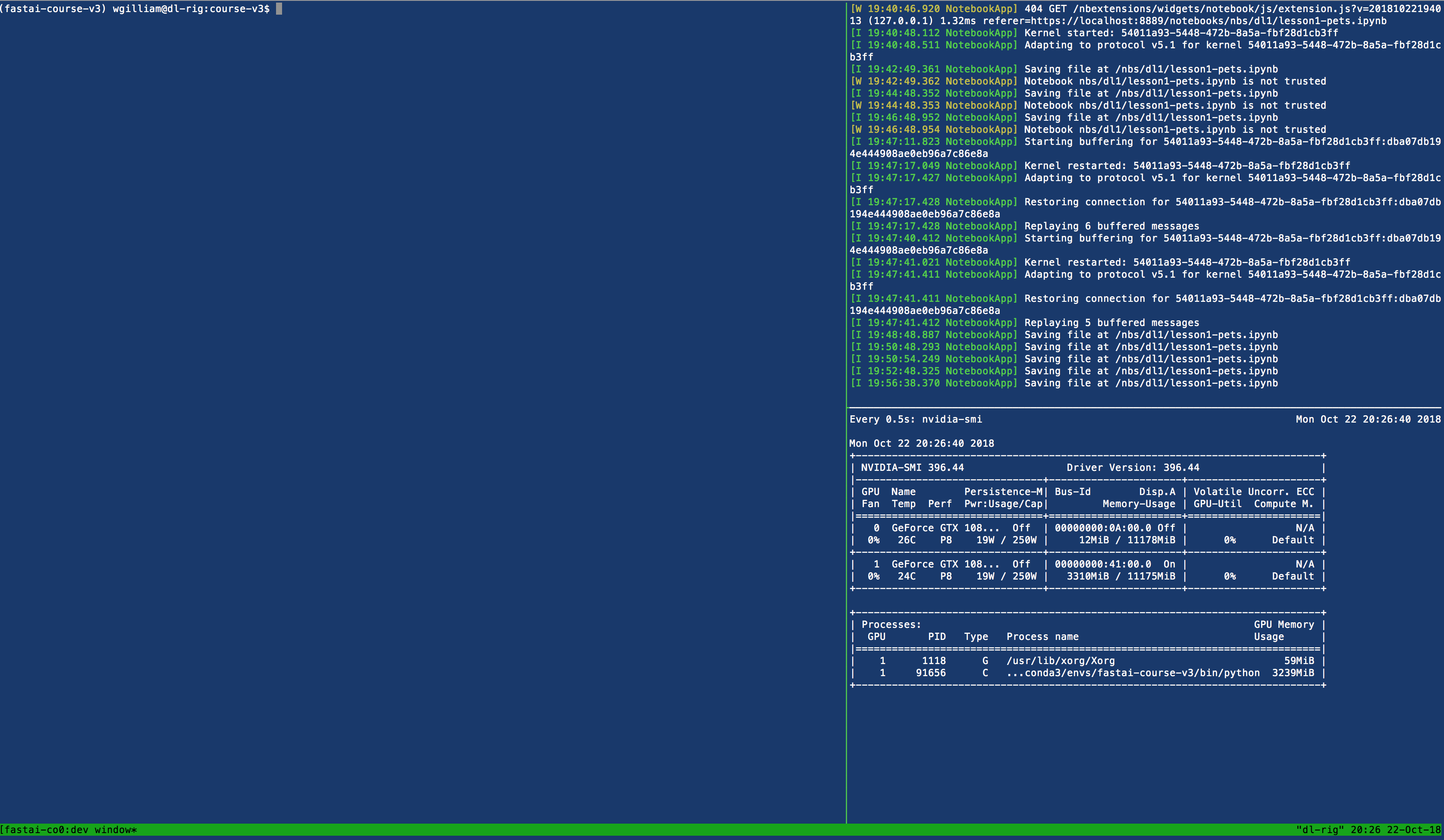 Local Linux Setup (with tmux/p and anaconda) - Part 1 (2019