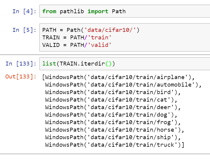Lesson 1: File structure in train folder in \dogscats