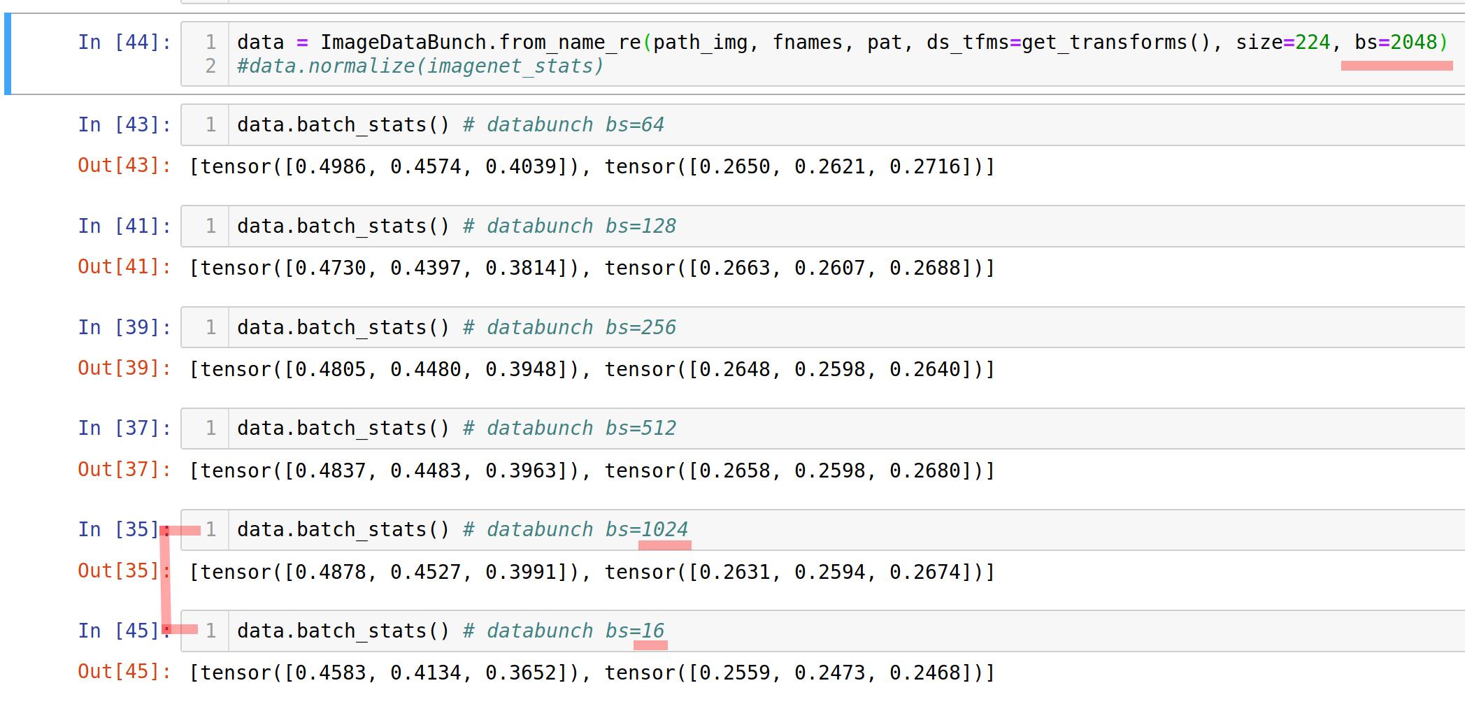 Normalize for pretrained=False resnet - Advanced (Part 1 v3