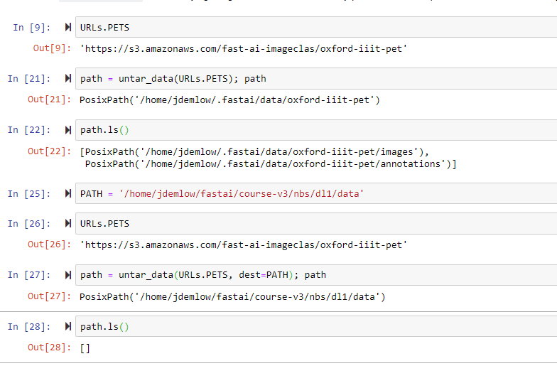 Untar_data doesn't seem to do anything if I pass in a fname