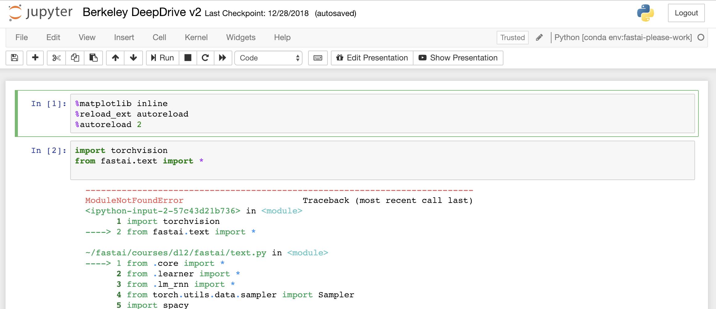 Fastai v1 install issues thread - fastai users - Deep