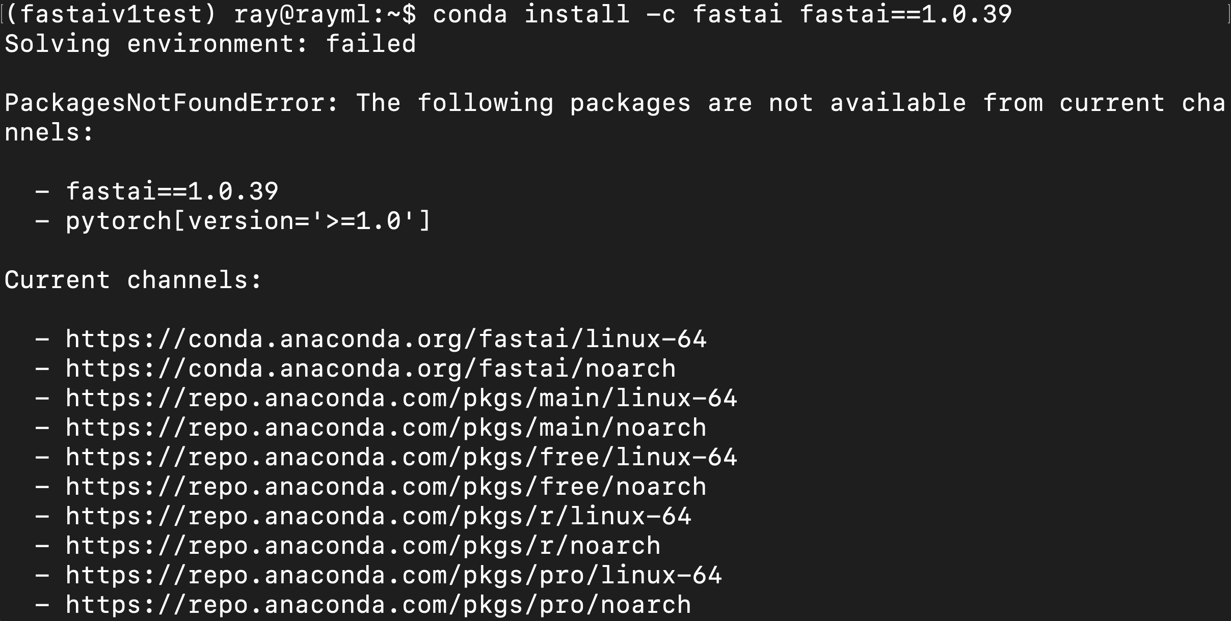 Fastai v1 install issues thread - fastai users - Deep